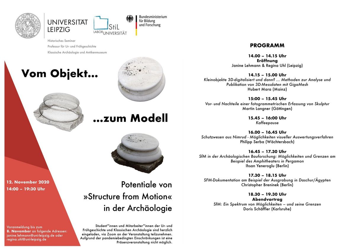 "Workshop ""Vom Objekt… …zum Modell Potentiale von »Structure from Motion« in der Archäologie"""